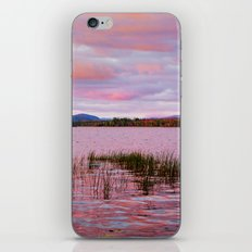 Sunset over Raquette Lake iPhone Skin