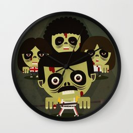 queen zombies Wall Clock