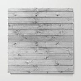 gray distressed stained painted wood board wall Metal Print