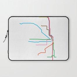 Chicago CTA Map, Chicago Train Map Art, Chicago L Train Map, Chicago Art, Chicago Wall Art, Map Art Laptop Sleeve