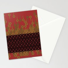 Pattern 1, Red Stationery Cards