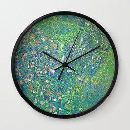 """Gustav Klimt """"Italian horticultural landscape"""" Wall Clock"""