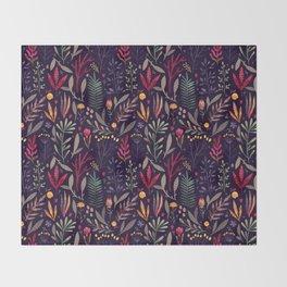Botanical pattern Throw Blanket