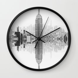 Skyline New York Architecture City Wall Clock