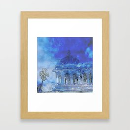 India in Indigo Framed Art Print