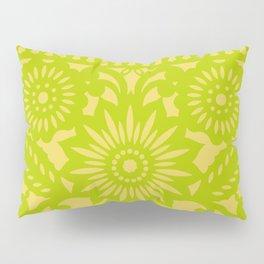 Papel Picado - Green + Yellow Pillow Sham