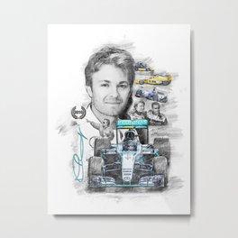 Nico Rosberg Metal Print