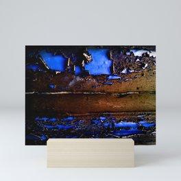 Black & Blue Mini Art Print