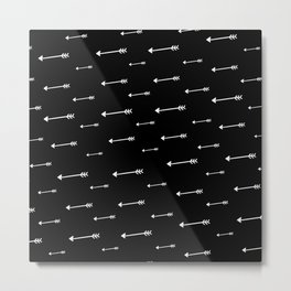 Arrows Black Metal Print