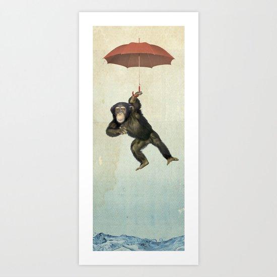 Chimpanchute Art Print