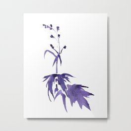 WATERCOLOR  FLOWER - DELPHINIUM 1 Metal Print