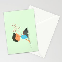 Boy in Love Stationery Cards
