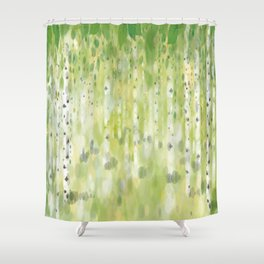 The Birch Grove Shower Curtain