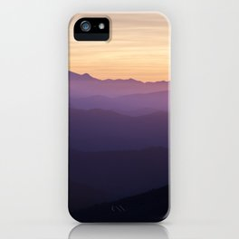 Sunset in the mountains iPhone Case