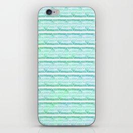 chevron blue&green iPhone Skin
