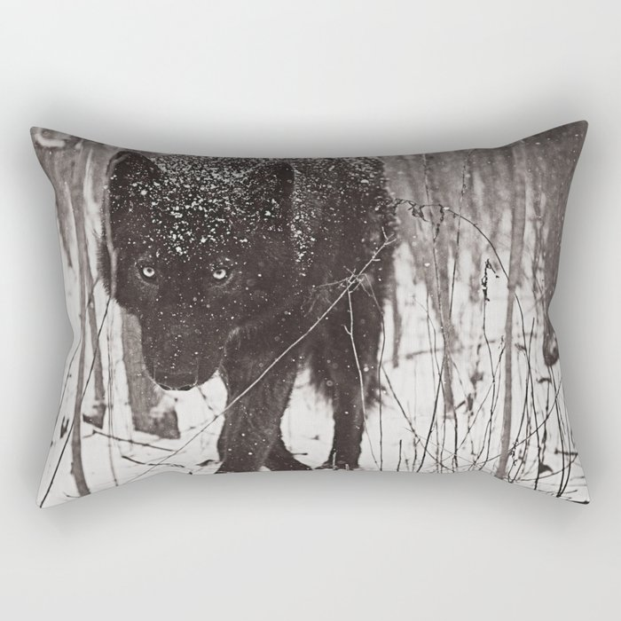 Snow Wolf Rectangular Pillow