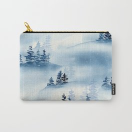 Blue Winter Forest Carry-All Pouch