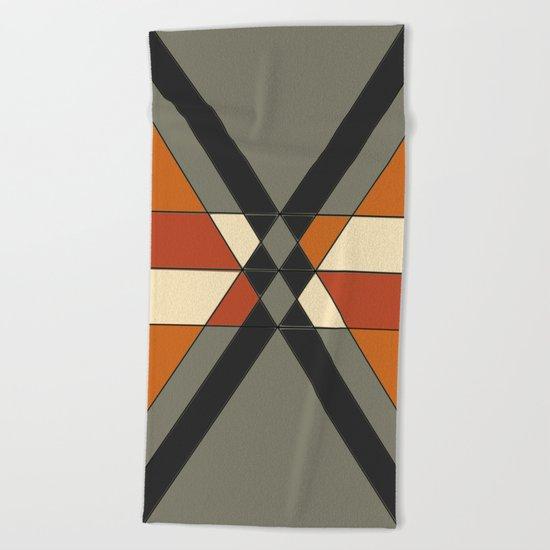 Tribal geometry Beach Towel