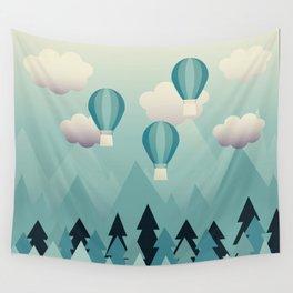 Hot Air Balloons Wall Tapestry