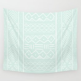 Mudcloth in mint Wall Tapestry