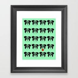 Dogs Green Framed Art Print