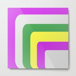 Rounded Stripes Metal Print