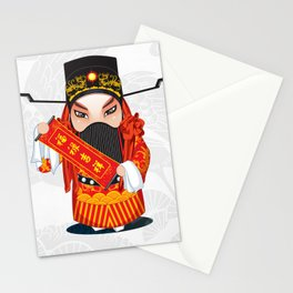 Beijing Opera Character FuXing Stationery Cards