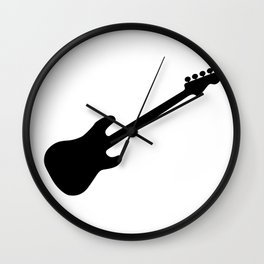 Bass Guitar Silhouette Wall Clock