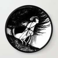 valentina Wall Clocks featuring asc 602 - La spectatrice (Valentina at the gallery) by From Apollonia with Love