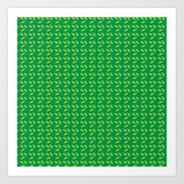 Green All Over Art Print