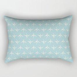 787 Passenger Jet Airliner Aircraft - Sky Rectangular Pillow
