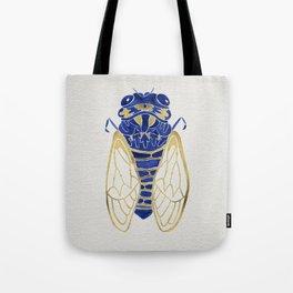 Cicada – Navy & Gold Tote Bag