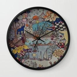Light doodles Wall Clock