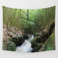 bamboo Wall Tapestries featuring Bamboo by AnishaCreations