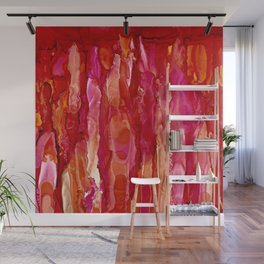 Crimson Cascade Wall Mural