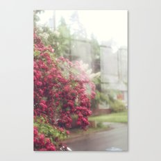 Rainy Window Canvas Print