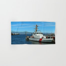US Coast Guard On Columbia River Hand & Bath Towel