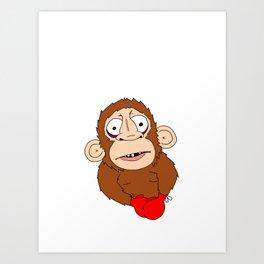 PunchDrunkMonkey Art Print