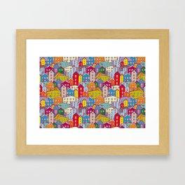 Cityscape Sketch Framed Art Print