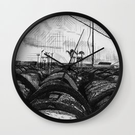 Tiled Roof Wall Clock