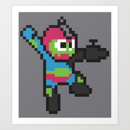 Jaw-man Art Print