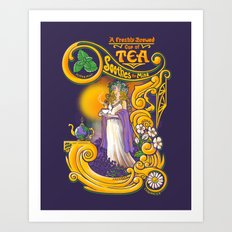 Tea Soothes the Mind Art Print
