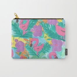 Tropical Flamingo Jungle Carry-All Pouch