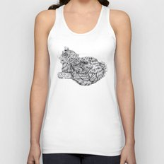 Pencil Cat Unisex Tank Top