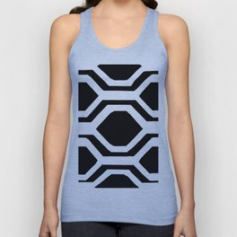 Black and White Geometric Unisex Tank Top