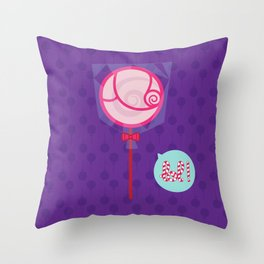 Lolipop - CosmoLOL!icious Throw Pillow