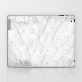 White Marble Print III Laptop & iPad Skin