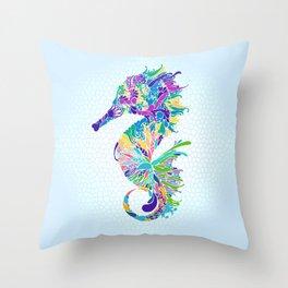 Mr. hippocampus is the man 海馬先生 - 一家之主 Throw Pillow