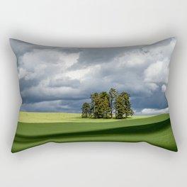 Tree Group in Green Field Rectangular Pillow