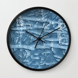 Dark slate blue nebulous watercolor texture Wall Clock